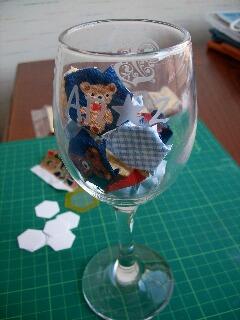 An★z ロゴ入りワイングラス