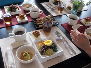 けいままサン、はるままサンと、韓国料理を作りました☆