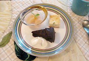カフェオレと… りんごのコンポート ガトーショコラ クリスマス☆チーズケーキ♪