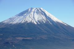富士山をドアップに
