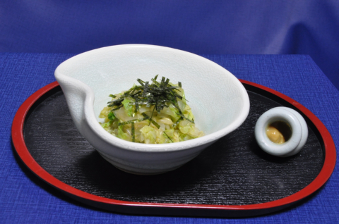 白菜のカラシ和え2