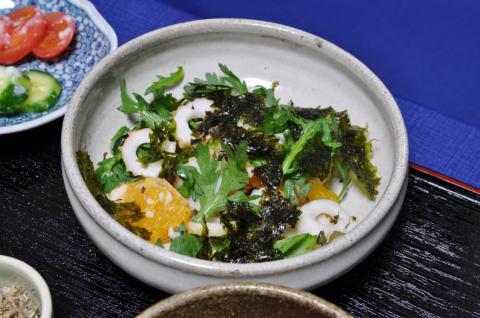 イヨカンの塩麹サラダ2