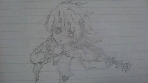 バイオリンの描き方が分からない。