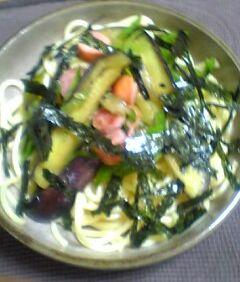 夏野菜の冷スパゲッティー