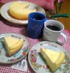 先日作ったチーズケーキ♪生クリームバージョン