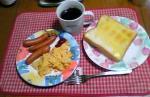 ひろが朝食作ってくれました(*´σー`)エヘヘ