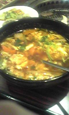雨にうたれ 体冷え切ってたんで スープが うまい!