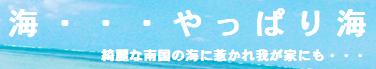 海・・・やっぱり海