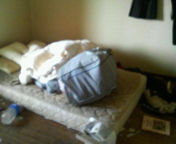 寝室(掃除前)