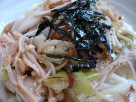 えのき味噌炒めのせ麺