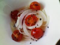 トマトと新玉の酢の物