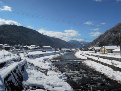 匹見町雪景色
