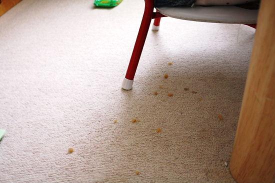 食事中 床の状況