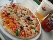パリの空港のピザ