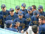 大阪ドームでしたが、讀賣主催のため3塁側でビジユニです