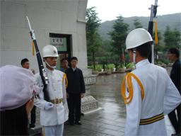旅行・台湾・中烈祠・衛兵交代式