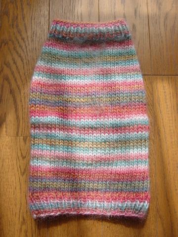 手編みセーターせなか