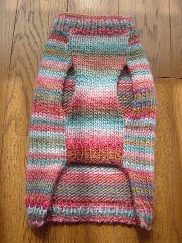 手編みセーターおなか