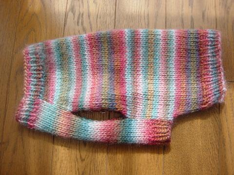 手編みセーターよこ