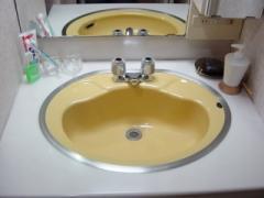 いつもの洗面台