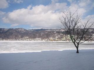 諏訪湖・冬