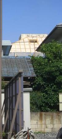 遠くから見た屋根