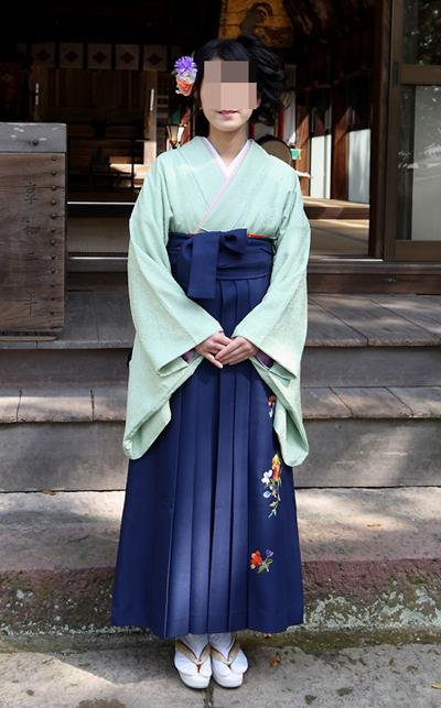 卒業式・袴姿2