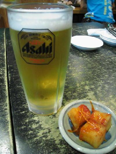 ビール@上水戸ホルモン