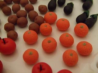 ミニチュア粘土 オレンジ