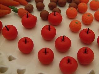 ミニチュア粘土 りんご