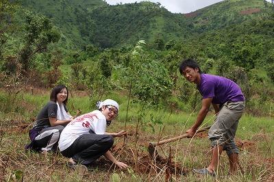 荒れた大地に緑を!植樹活動