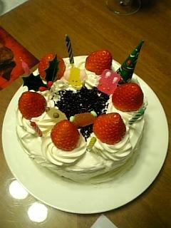 ケーキ完成!