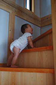 階段のぼる