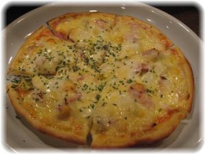 栗とベーコンのピザ