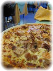 魚介のpizza