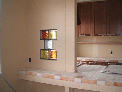 キッチンのガラスブロック