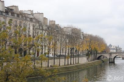 パリ・セーヌ河の紅葉