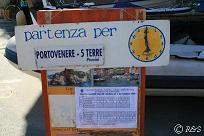 モンテロッソの船の切符売り場小
