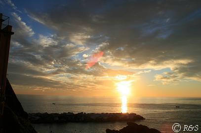 マナローラの夕陽