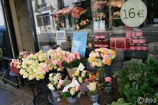 リュクサンブール付近の花屋小
