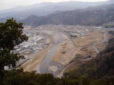 城山山頂から狩野川