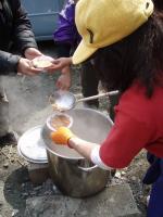 広沢寺清掃集会2008豚汁1
