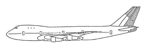 垂直尾翼・尾部胴体欠損図