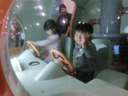 またまたアンパンマンミュージアム アンパンマン号操縦席