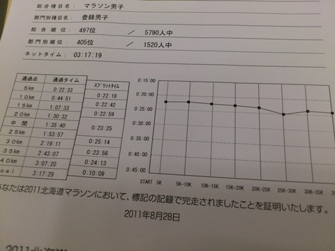 2011道マラの記録