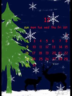 携帯用壁紙12月240x320