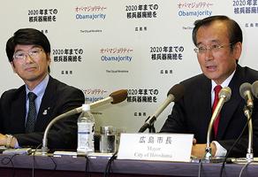 秋葉広島市長と田上長崎市長