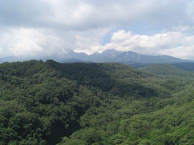 八ヶ岳高原大橋から見た八ヶ岳