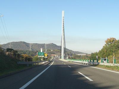 高速道を西へ