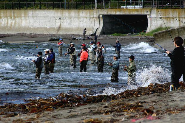 オホーツクのサケ釣り2
